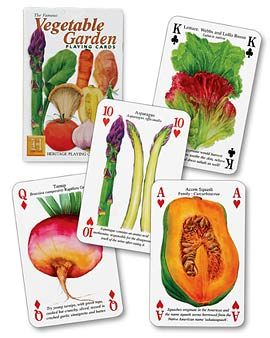Vegetable Garden Playing Cards - Home & Garden