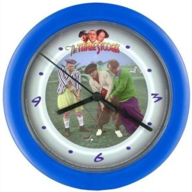 The Three Stooges Golf Wall Clock - Home & Garden